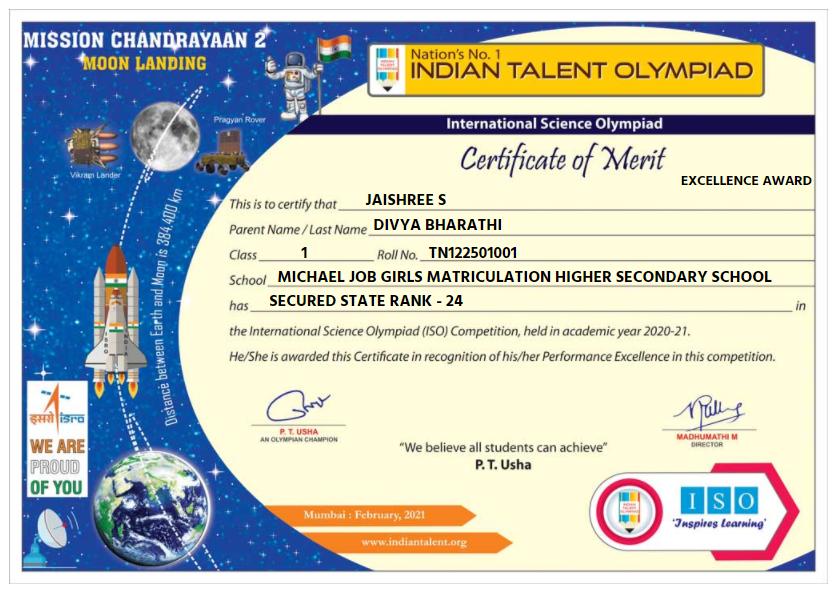 JAISHREE S - Digital Certificate